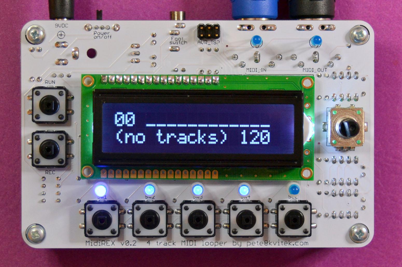 Midirex Diy Midi Loop Sequencer The Incubator Mutable Strange Led Instruments Community